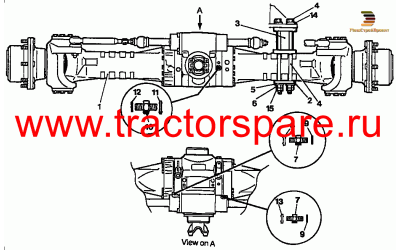 FRONT AXLE GROUP - FIXED FRAME - STEERING