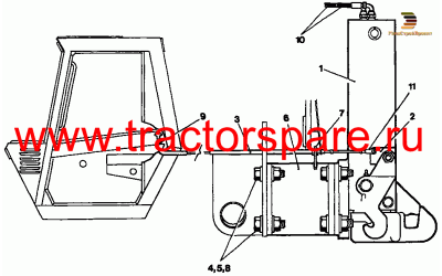 TOW HITCH GROUP WITHOUT BALLAST