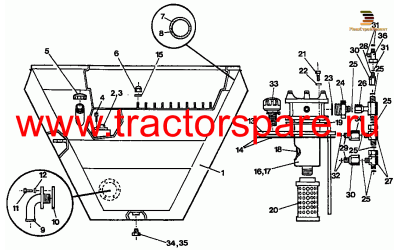 HYDRAULIC AND FUEL TANK GROUP