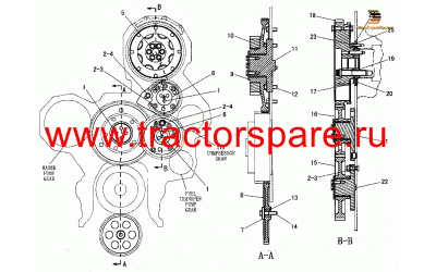FRONT GEAR GROUP,GEAR GP-FRONT