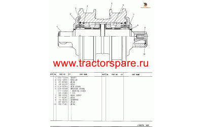 ROLLER GP-TRACK-DOUBLE FLANGE,TRACK ROLLER GROUP-DOUBLE FLANGE