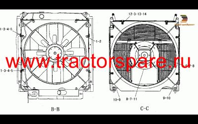FAN AND RADIATOR,RADIATOR & FAN GP